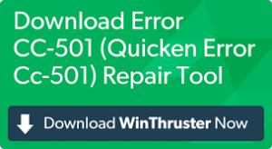 Quicken Error CC 501