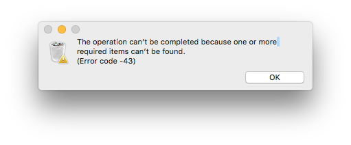 Error Code 43 Mac