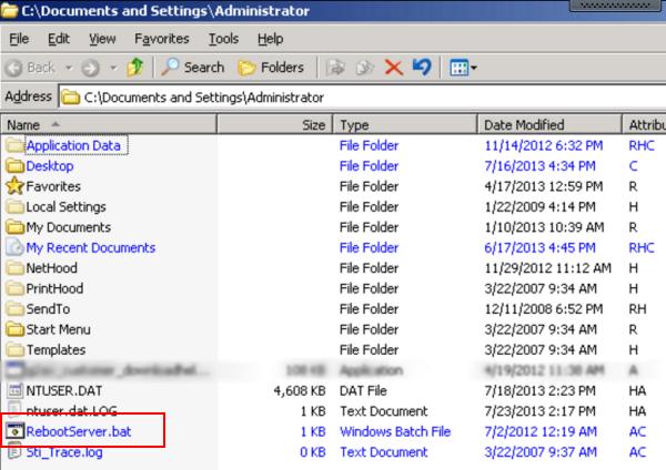 reboot.bat file