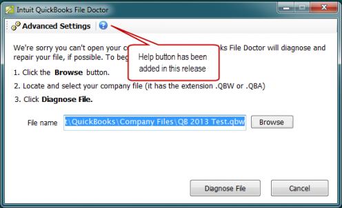 Run QuickBooks File Doctor