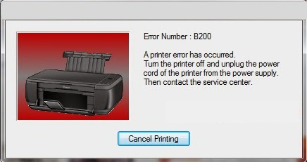 Fix Canon B200 Error