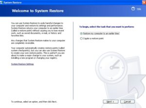 Perform A System Restore
