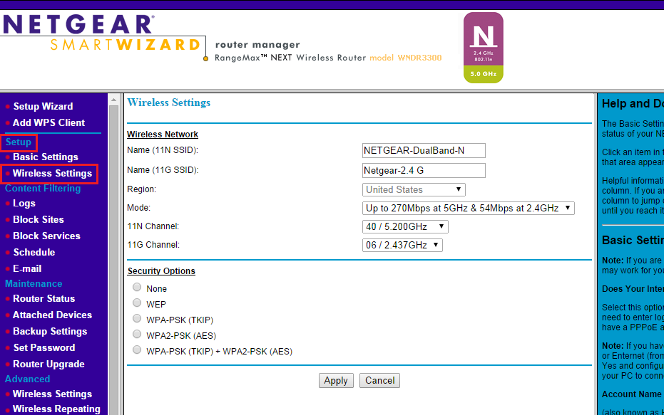 Netgear Wireless Router Setup