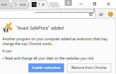 Avast SafePrice Chrome