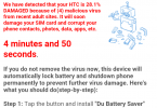 Android Virus Warning