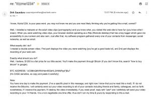 bitcoin ransom email