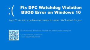 DPC Watch Dog Violation