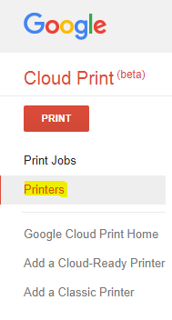 Google cloud print apk