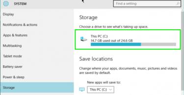 Windows 10 disk usage