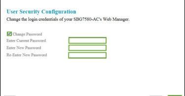 arris default password