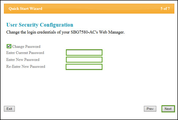 arris default password