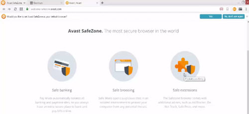 Avast Safezone browser free download