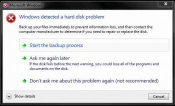 Hard Drive Failure signs