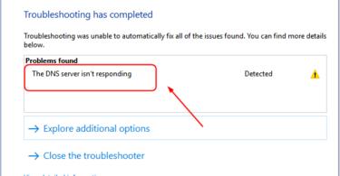 Fix dns servers not responding error