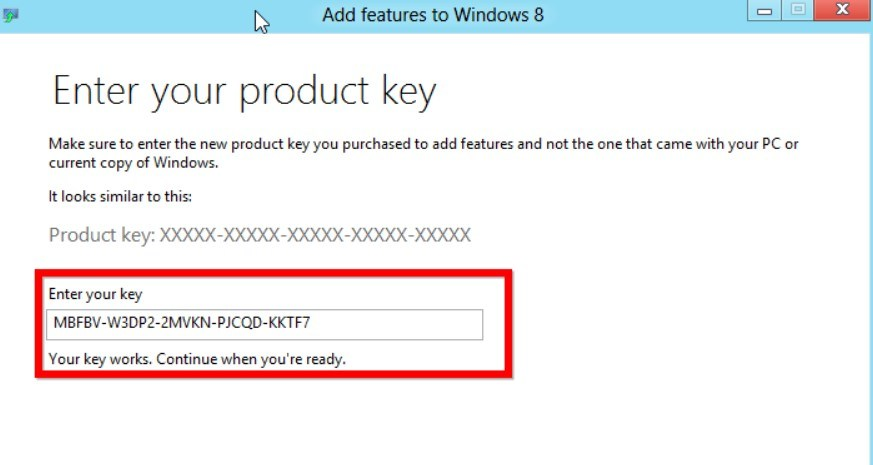 activate windows 8.1 with windows 8 product key