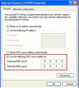 Public DNS servers