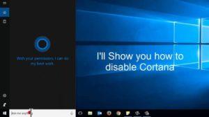 How to Disable Cortana Windows 10