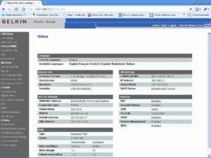 Belkin router login