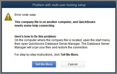 How to fix QuickBooks error H202