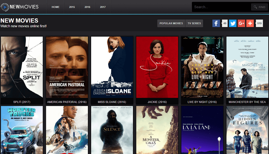 free online new movie streaming sites