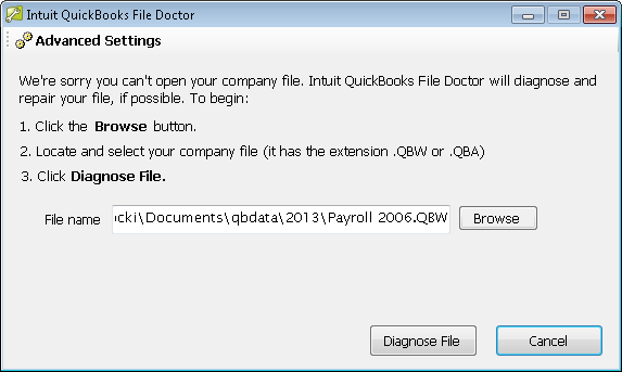 QuickBooks file doctor