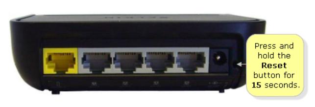 Reset Belkin router
