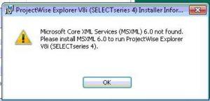 MSXML installation process