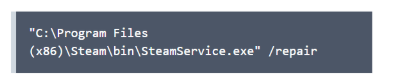 steam service error